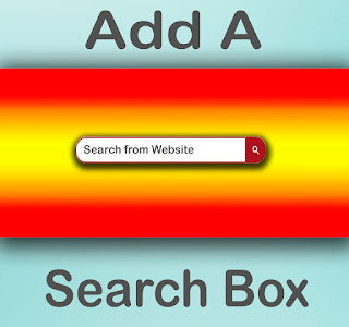 how to add custom blogger search box in template