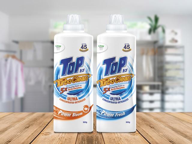 Dos Kecil, Cucian  Berkuasa Dalam Masa Lebih Singkat dengan 5X Kuasa Cucian Menerusi TOP TurboClean Ultra Concentrated Detergent