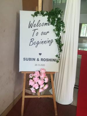 Wedding Board Entrance