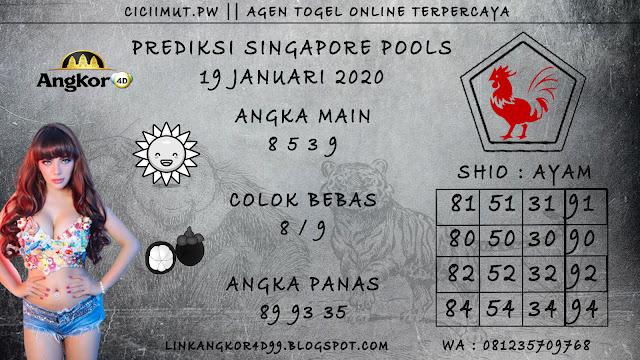 PREDIKSI SINGAPORE POOLS 19 JANUARI 2020