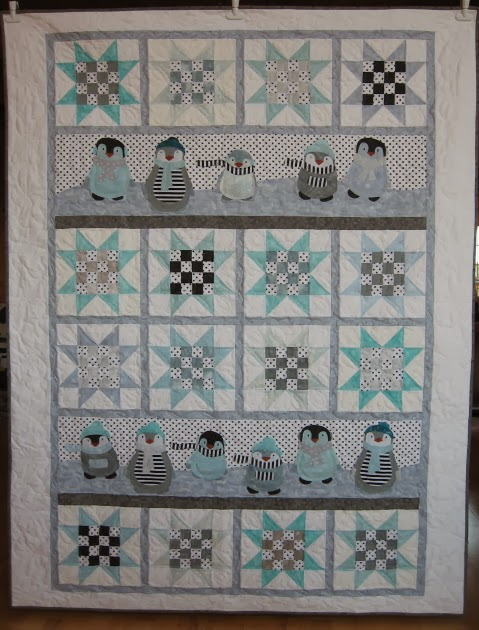 Northern Quilts Homespun Mistake In Penguin Winter Quilt