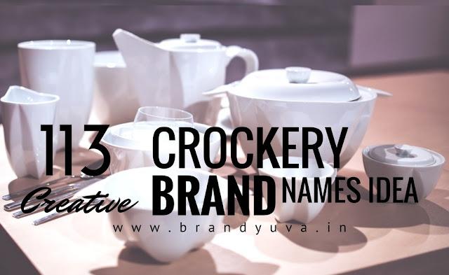 crockery brand names idea