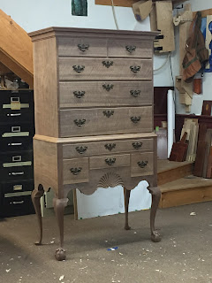 Queen Anne Highboy with ball and claw feet
