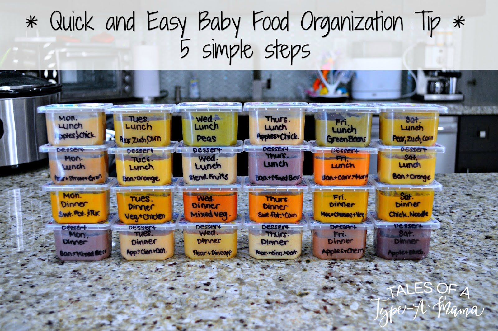 Quick Easy Baby Food Organization Tip Tales Of A Type A Mama