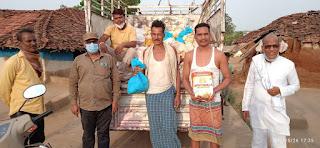 पूर्व मुख्यमंत्री, सांसद एवं अमरवाड़ा विधायक के सहयोग से गरीबो को निशुल्क राशन किट वितरित की जा रही