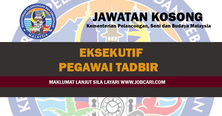 Jawatan Kosong di Kementerian Pelancongan, Seni dan Budaya Malaysia