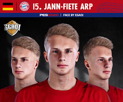 PES 2020 Faces Jann-Fiete Arp by EgaOi