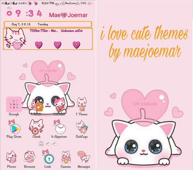 Cats Melody Pink Theme
