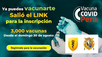Ya puedes vacunarte Salió el LINK  para la inscripción desde agosto 2020