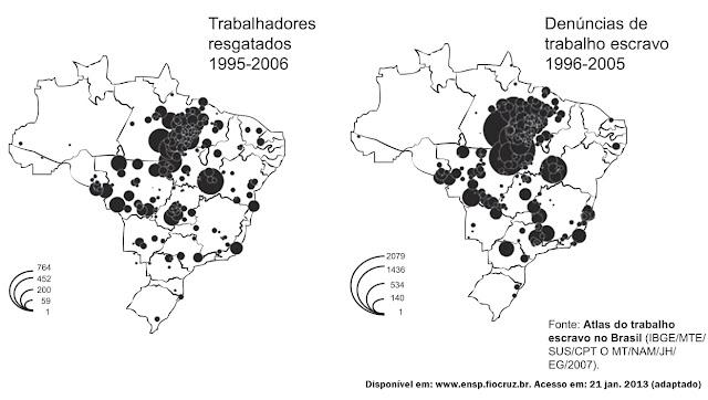 Denúncia de trabalho escravo 1996-2005