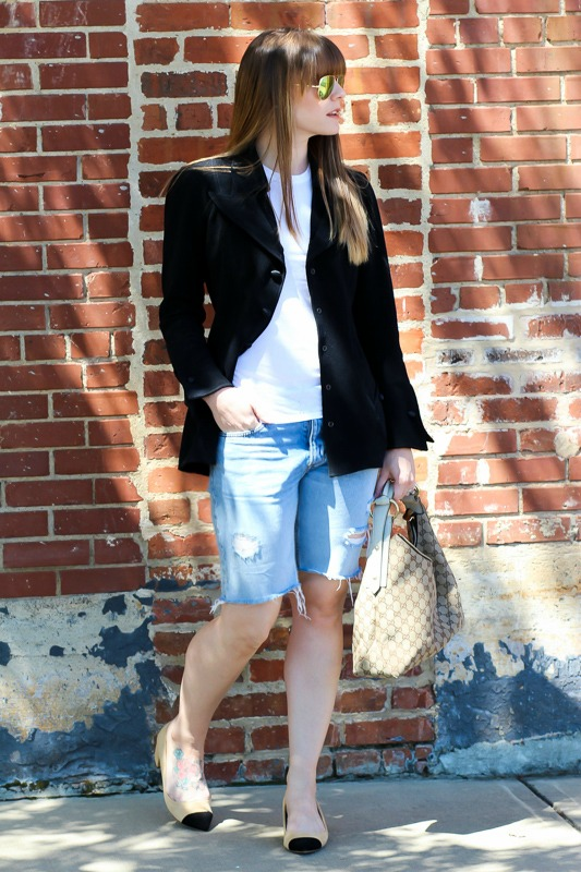 Denim shorts for spring
