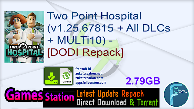 Two Point Hospital (v1.25.67815 + All DLCs + MULTi10) – [DODI Repack]