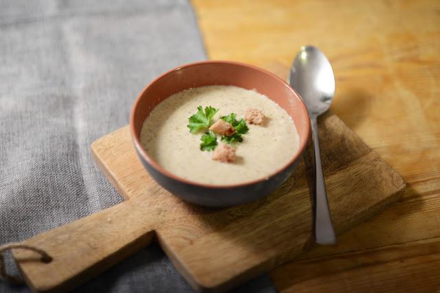 Rezept Pilzsuppe mit Champignons und Kräutersaitlingen