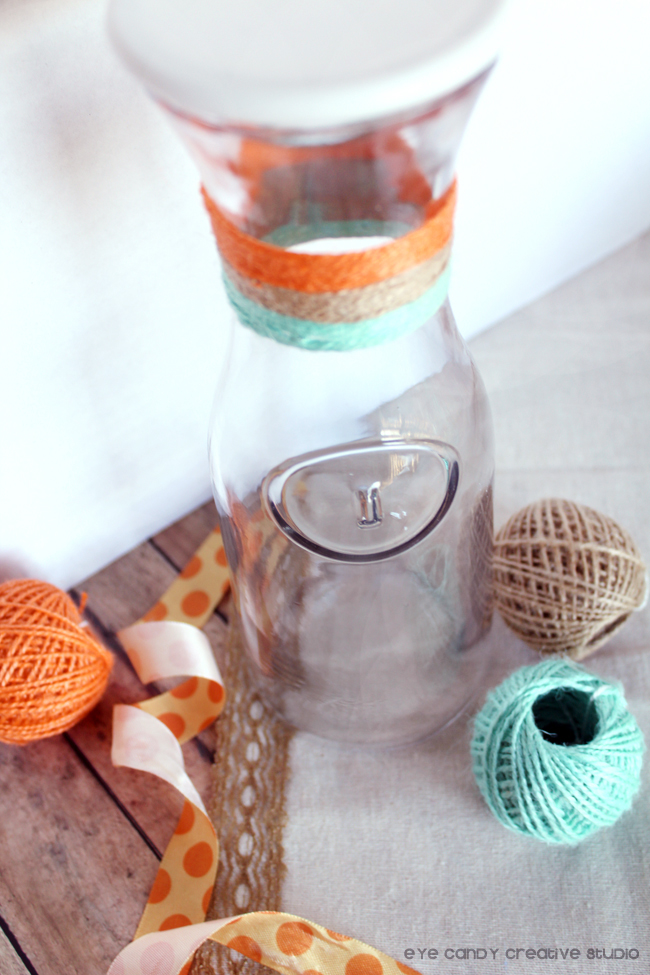 twine, gift ideas using dollarspot finds, target crafting, carafe