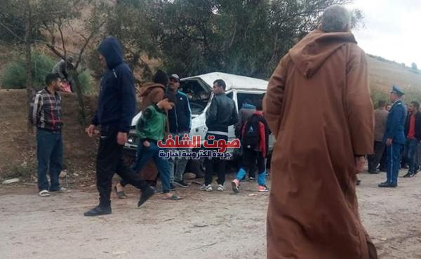 إصابة 14 تلميذا إثر انقلاب حافلة مدرسية ببلدية تاجنة