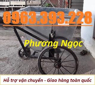 Xe gom rác 3 bánh 400L, xe gom rác bằng tôn, xe đẩy rác 400 Lít, xe thu gom rác  Xe-gom-rac-ton-500l