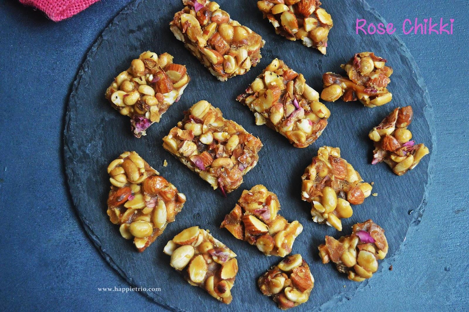 Rose Chikki Recipe   How to Prepare Rose Chikki