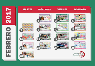 calendario-sorteo-febrero-loteria-nacional-para-la-asistencia-publica