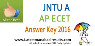 AP ECET 2016 Preliminary Key, Eenadu ECET Key 2016, AP ECET 2016 Official Key, APECET Answer Paper Solutions
