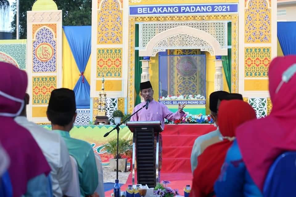 Rudi Membuka STQ VIII Tingkat Kecamatan Belakangpadang