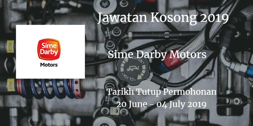 Jawatan Kosong Sime Darby Motors 20 June - 04 July 2019