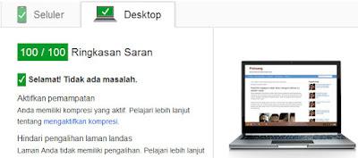 mengukur kecepatan blog dengan google page speed inshights