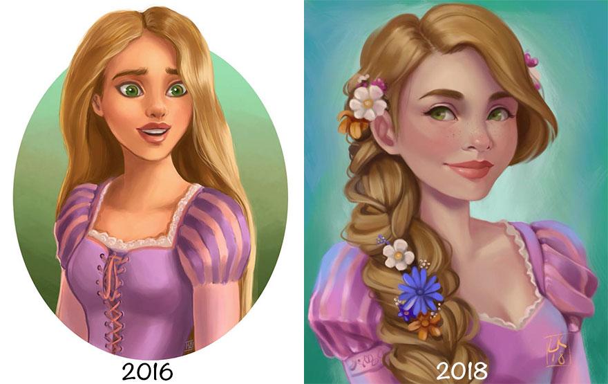 Princess-disney-ilustração-due-anni-di-pratica-07