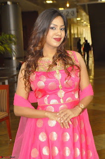 Sindhu Shivarama in Pink Ethnic Anarkali Dress 15.JPG