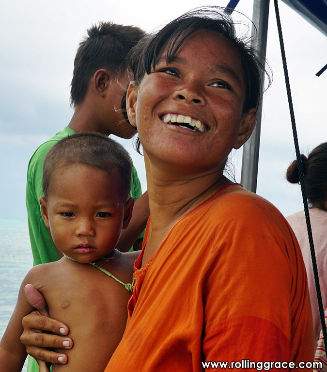 sea gypsies in Sabah Malaysia