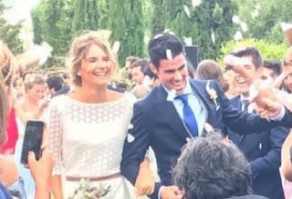 Garcia And Adriana On Their Wedding Day