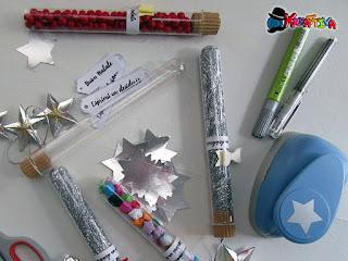 provette come elemento decorativo natalizio
