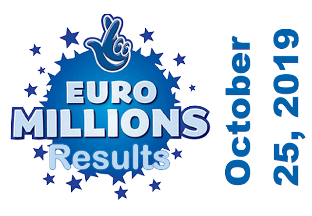 EuroMillions Results for Friday, October 25, 2019