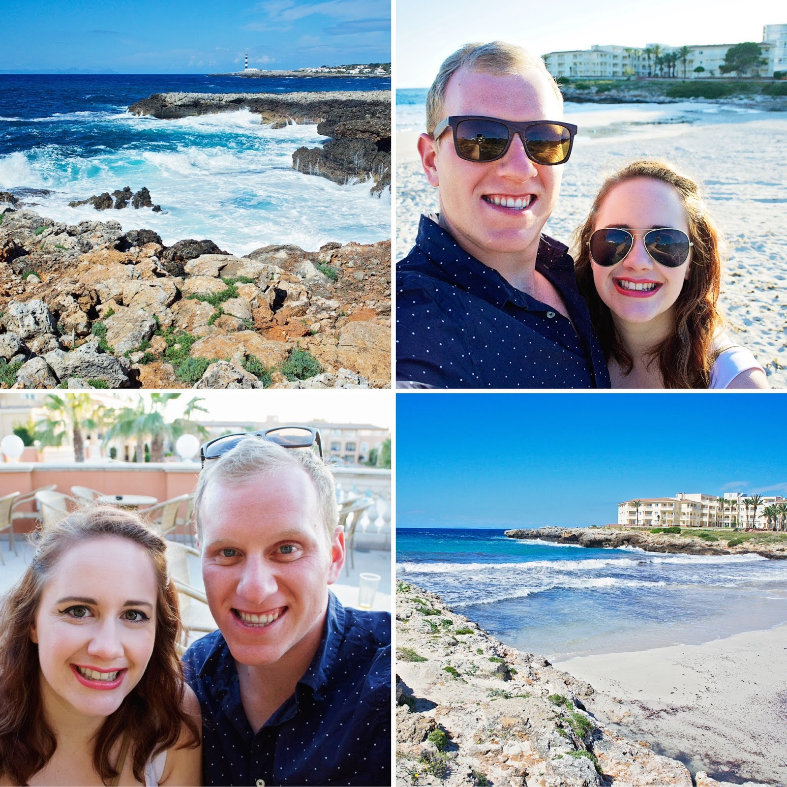 A montage of photos from Menorca