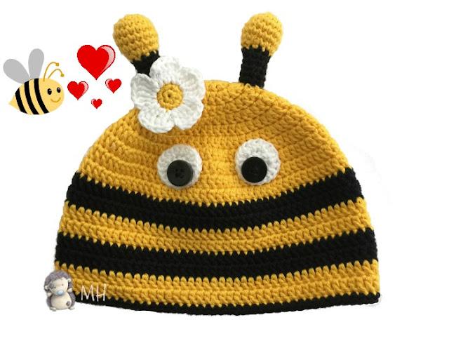 Gorro abeja a crochet