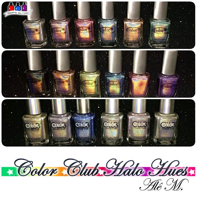 Color Club, Halo Hues, Holográfico, Coleção completa, Alê M