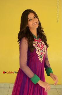 Actress Pooja Jhaveri Latest Stills in Purple Salwar Kameezt at Dwaraka Success Meet  0088.JPG