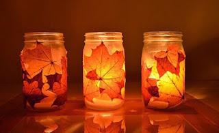 lanternes-halloween-avec-feuilles