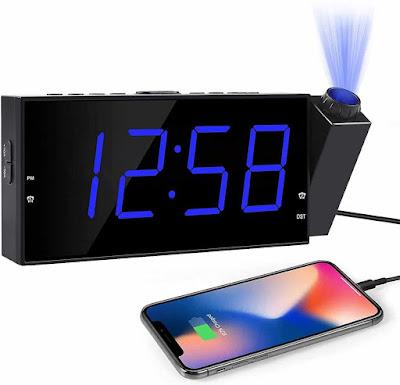 OnLyee Projection Digital Alarm Clock