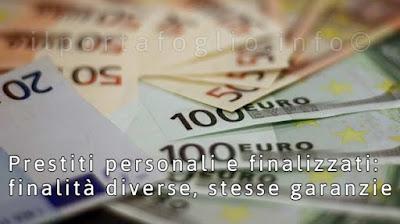 prestiti personali o finalizzati