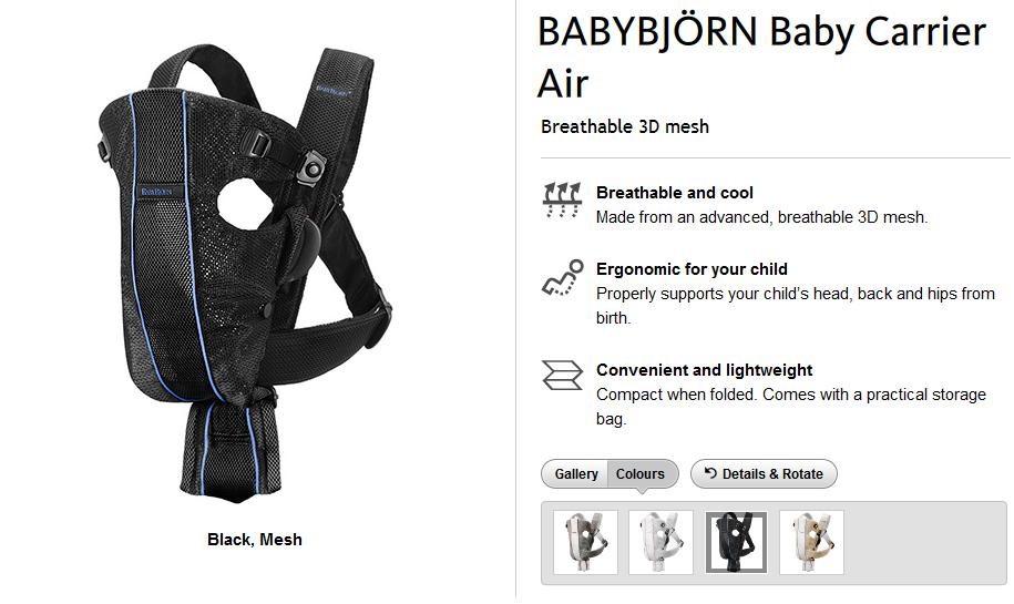 Joys Of Toy Amp Baby Stuff Preloved Baby Bjorn Carrier Air