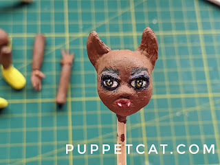 голова куклы из самозатвердевающей пластики