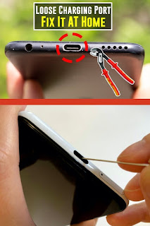 phone charging port loose