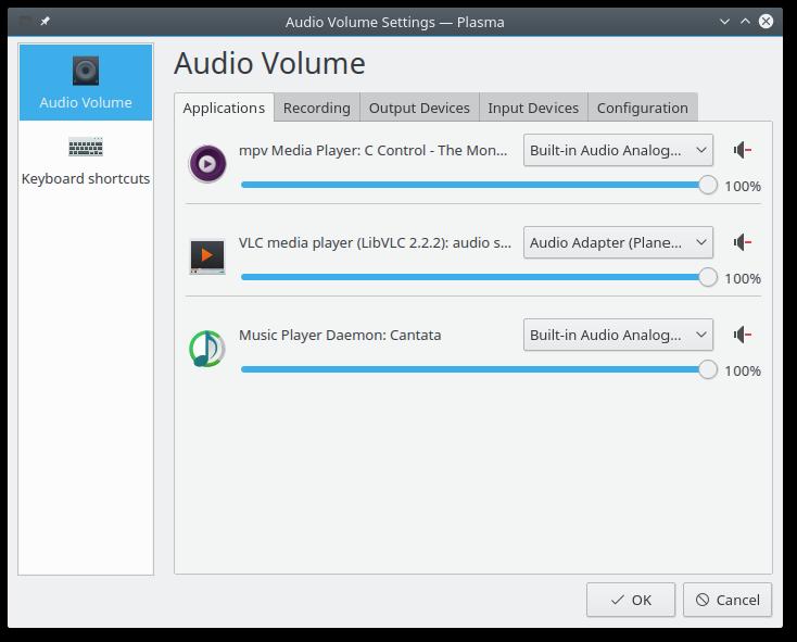 David's notes: Audio Volume improvements in Plasma 5 7