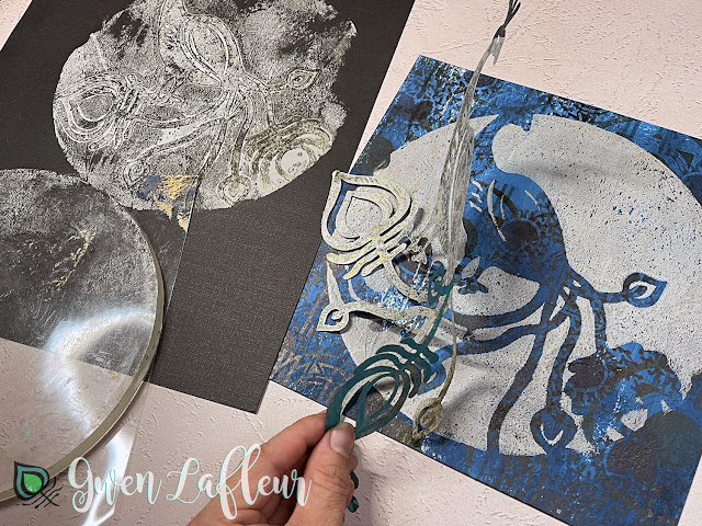 Printmaking with Stencils - Tutorial Step 3A - Gwen Lafleur
