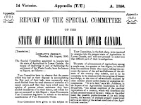 Report of the Special Committee on Agriculture for the Legislative Assembly of Canada (1850)