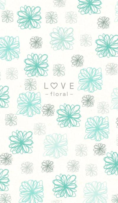 Floral LOVE 22 -watercolor-