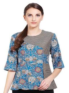 baju batik wanita atasan modern