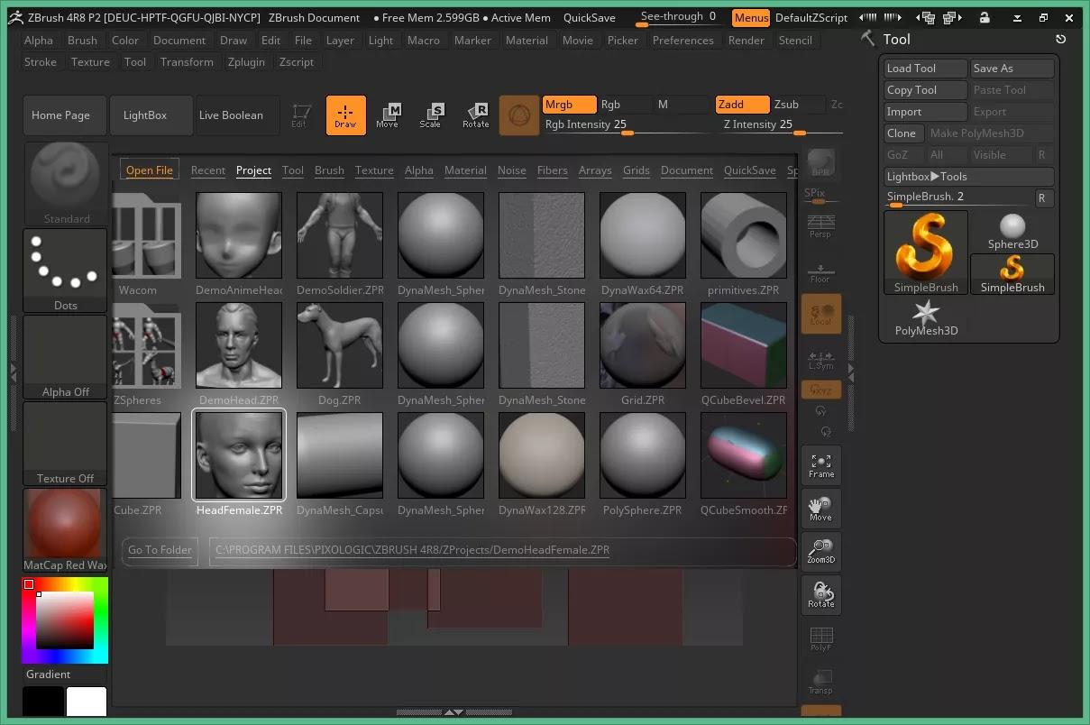 تحميل برنامج Pixologic ZBrush 2020.1.4 لإنشاء عروض واقعية مباشرةً باستخدام الإضاءة والتأثيرات الجوية