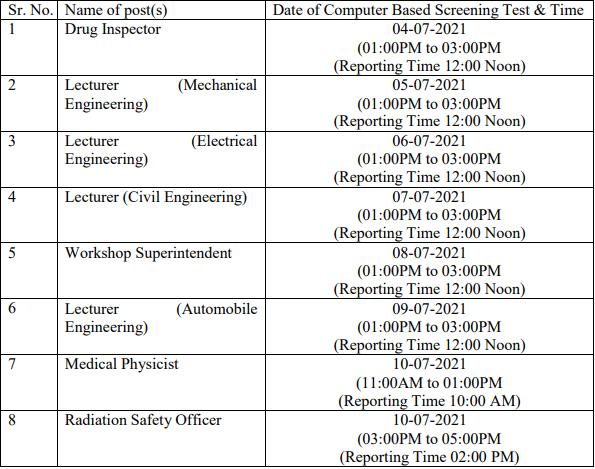 HPPSC Shimla CBT Exam Date 2021