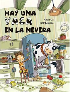 cuento infantil divertido Hay una vaca en la nevera